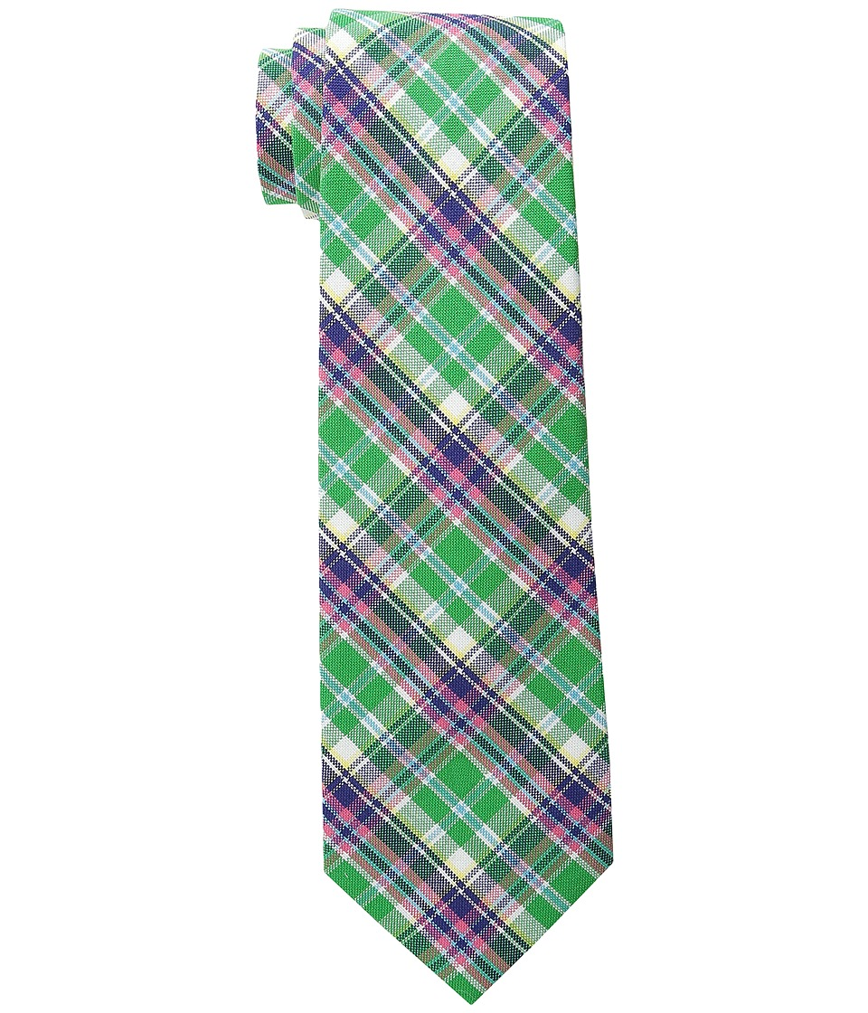 LAUREN Ralph Lauren - Shirting Plaid Cotton Tie (Green/Pink) Ties