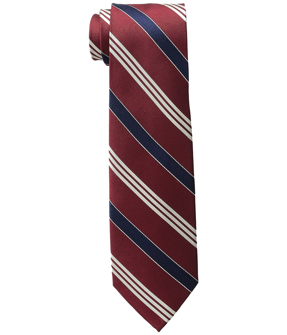 LAUREN Ralph Lauren - Twillsatin Striped Silk Twill Tri-Tie (Red/Navy) Ties