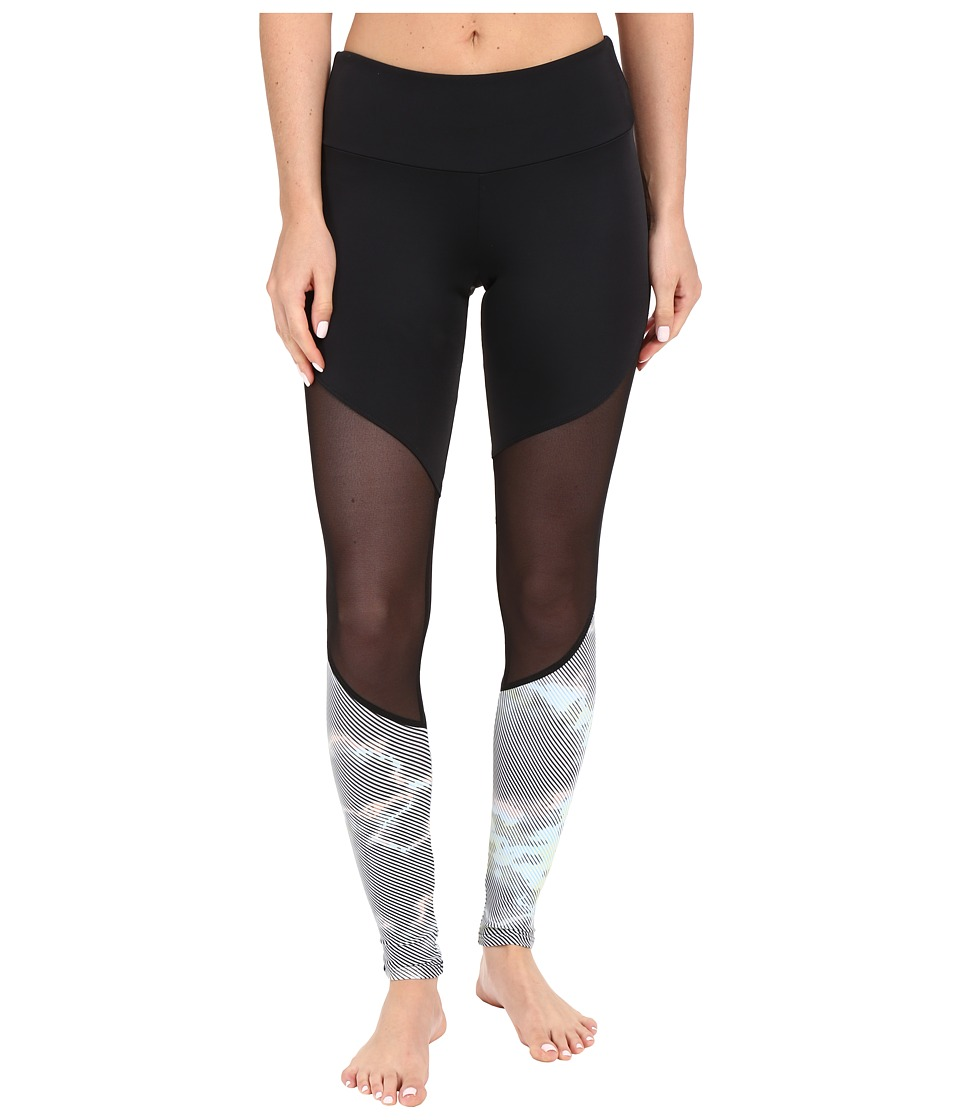 Onzie - Track Leggings (Black/Black Mesh/Techno) Women's Casual Pants