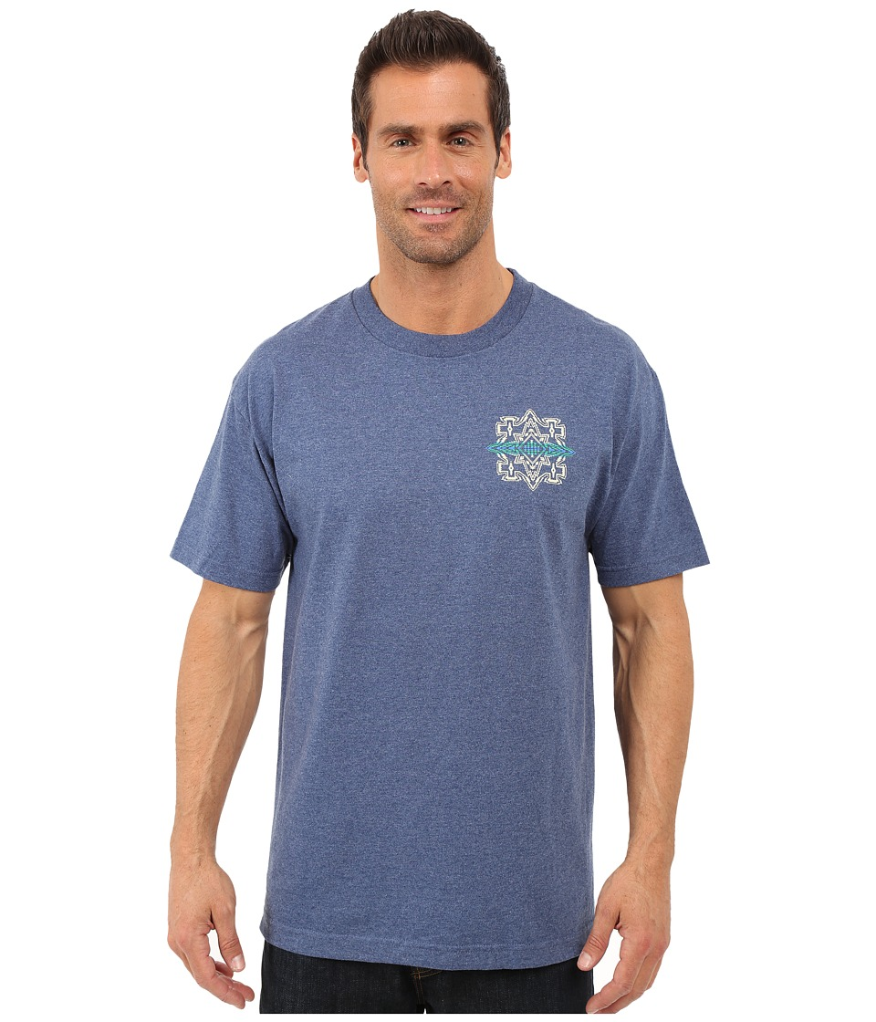 Pendleton - S/S Logo Tee (Denim Heather) Men's Short Sleeve Pullover