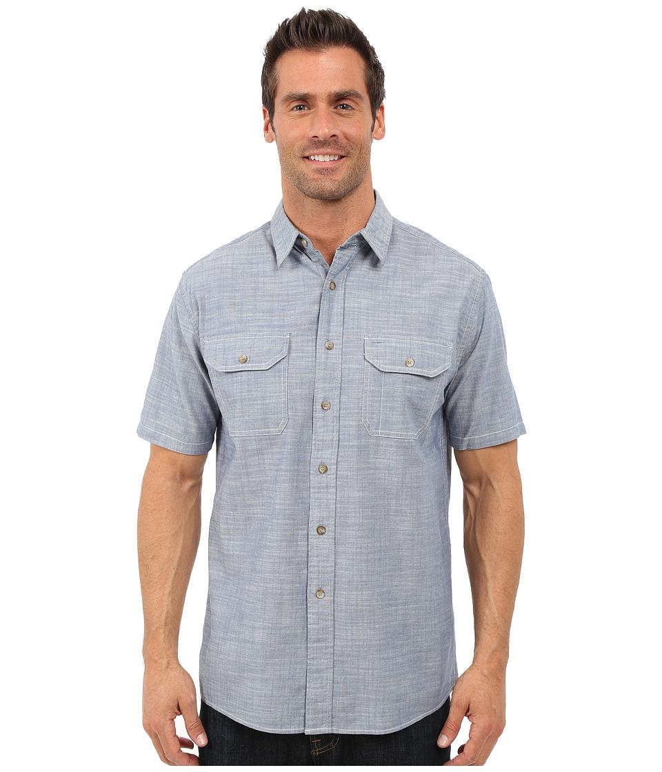Pendleton - Short Sleeve Chambray (Blue) Men's Clothing