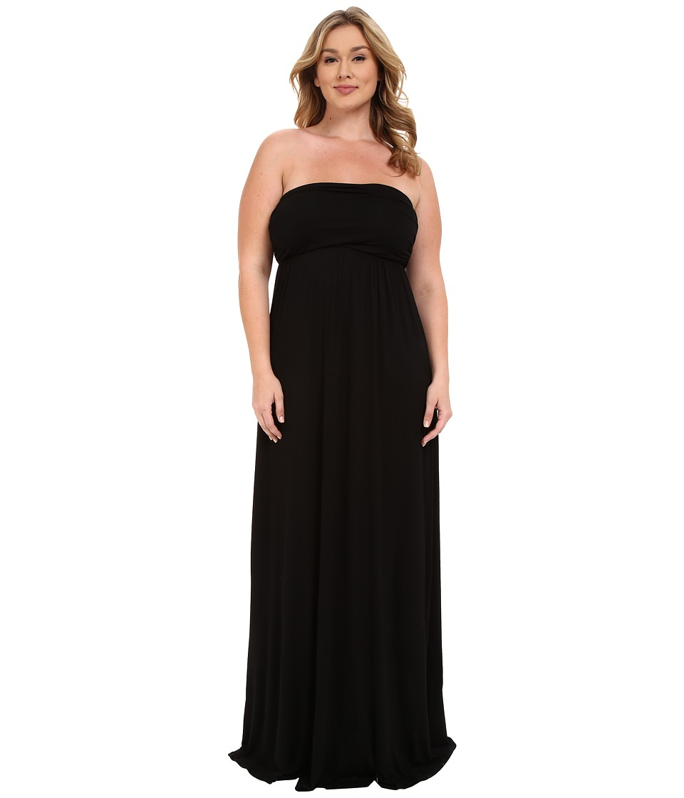 Culture Phit Plus Size Hally Dress (Black) Women