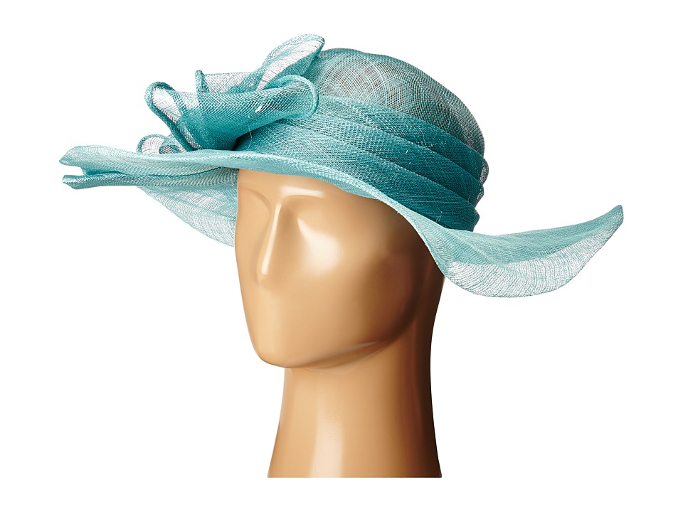 SCALA - Sinamay with Large Bow (Aqua) Headband