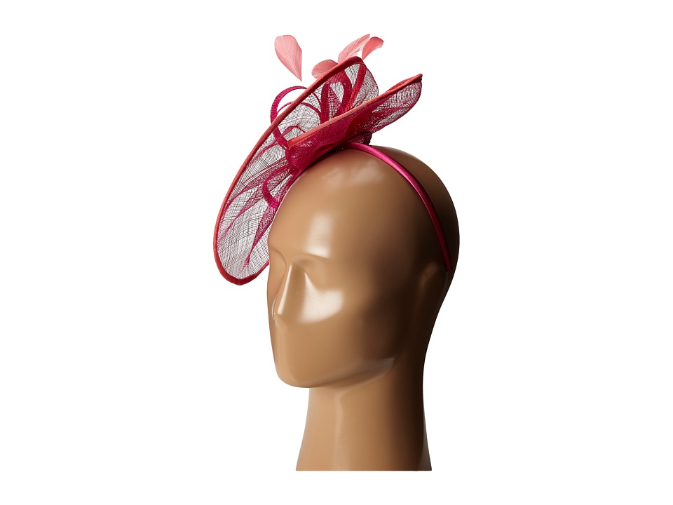 SCALA - Sinamay Bow Fascinator (Fuchsia) Headband