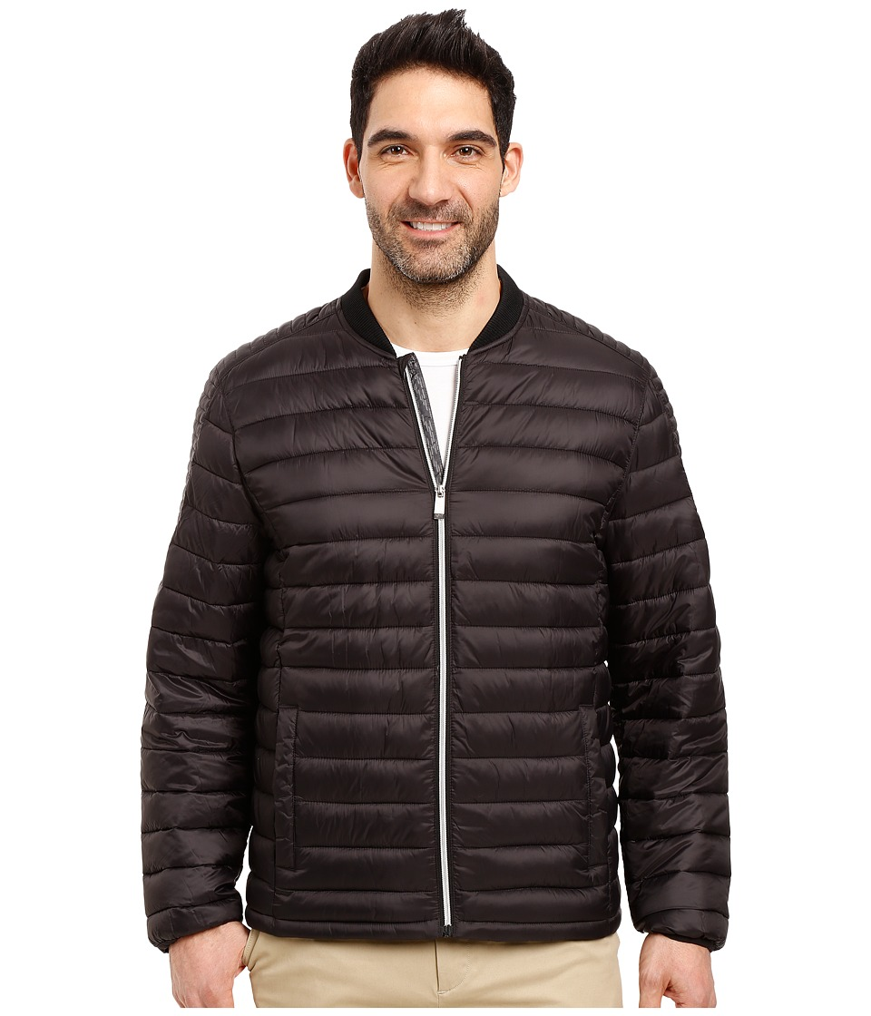 Calvin Klein - Dressy Packable Puffer Jacket (Black) Men's Coat