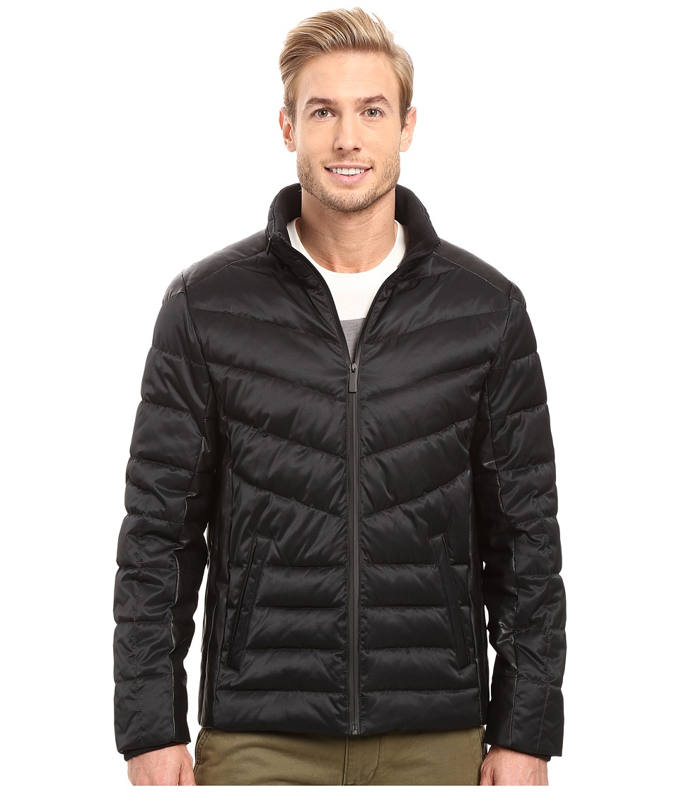 Calvin Klein - Micro Texture Puffer Jacket (Black) Men's Coat