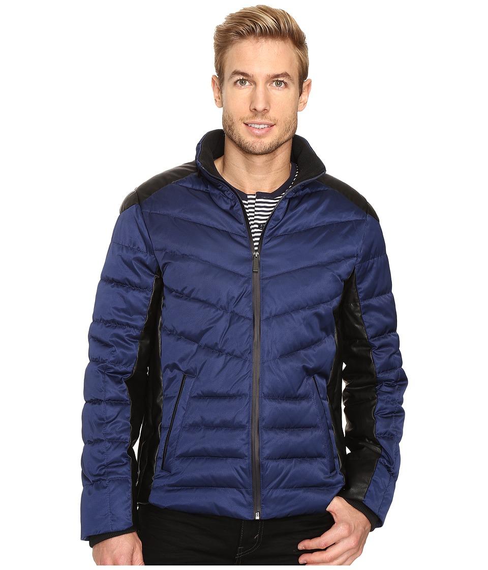 Calvin Klein - Micro Texture Puffer Jacket (Peacoat) Men's Coat