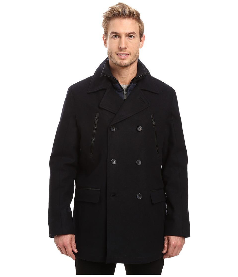 Calvin Klein - Wool Peacoat (Navy) Men's Coat