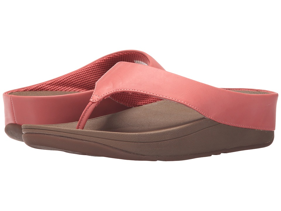FitFlop - Ringer Toe Post (Lipstick Rose) Women's Sandals