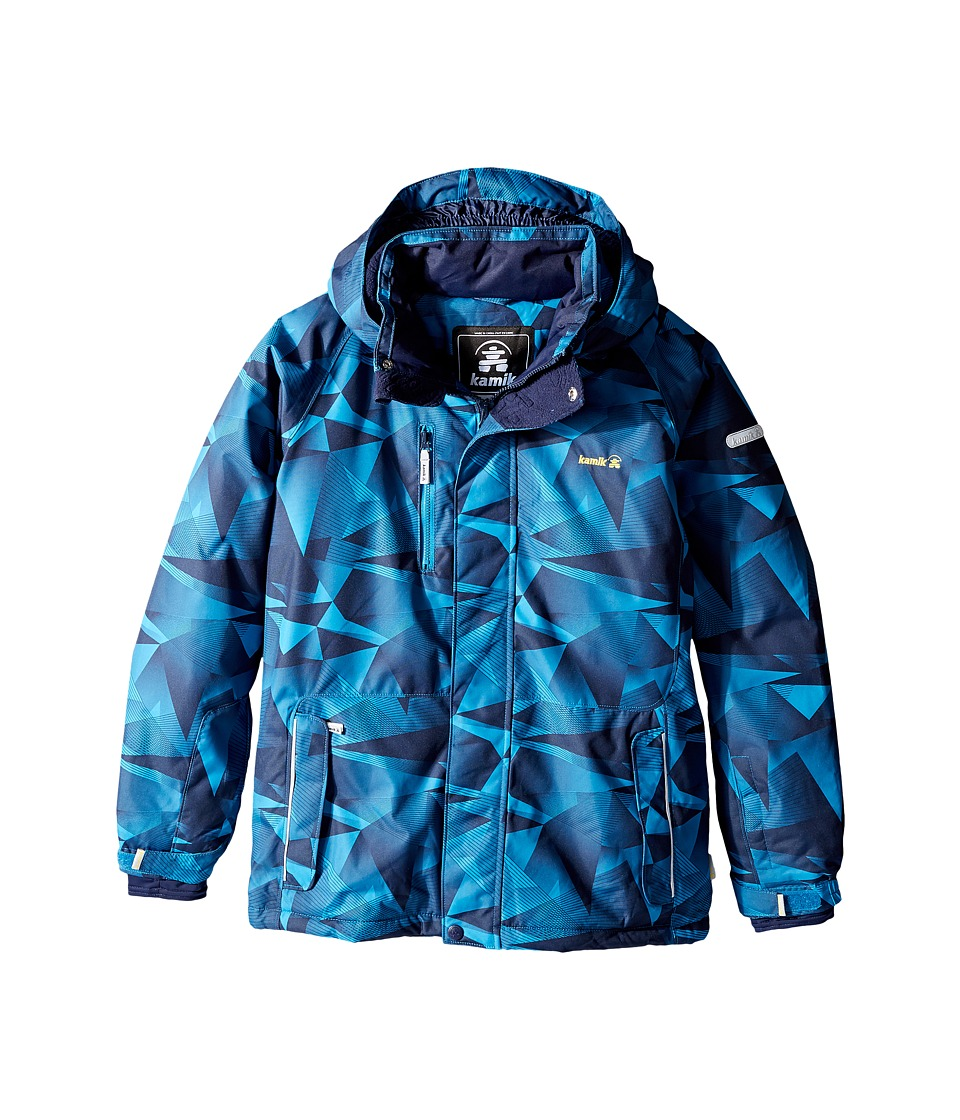 Kamik Kids - Devyn Labyrinth Jacket (Little Kids/Big Kids) (Mykonos) Boy's Coat
