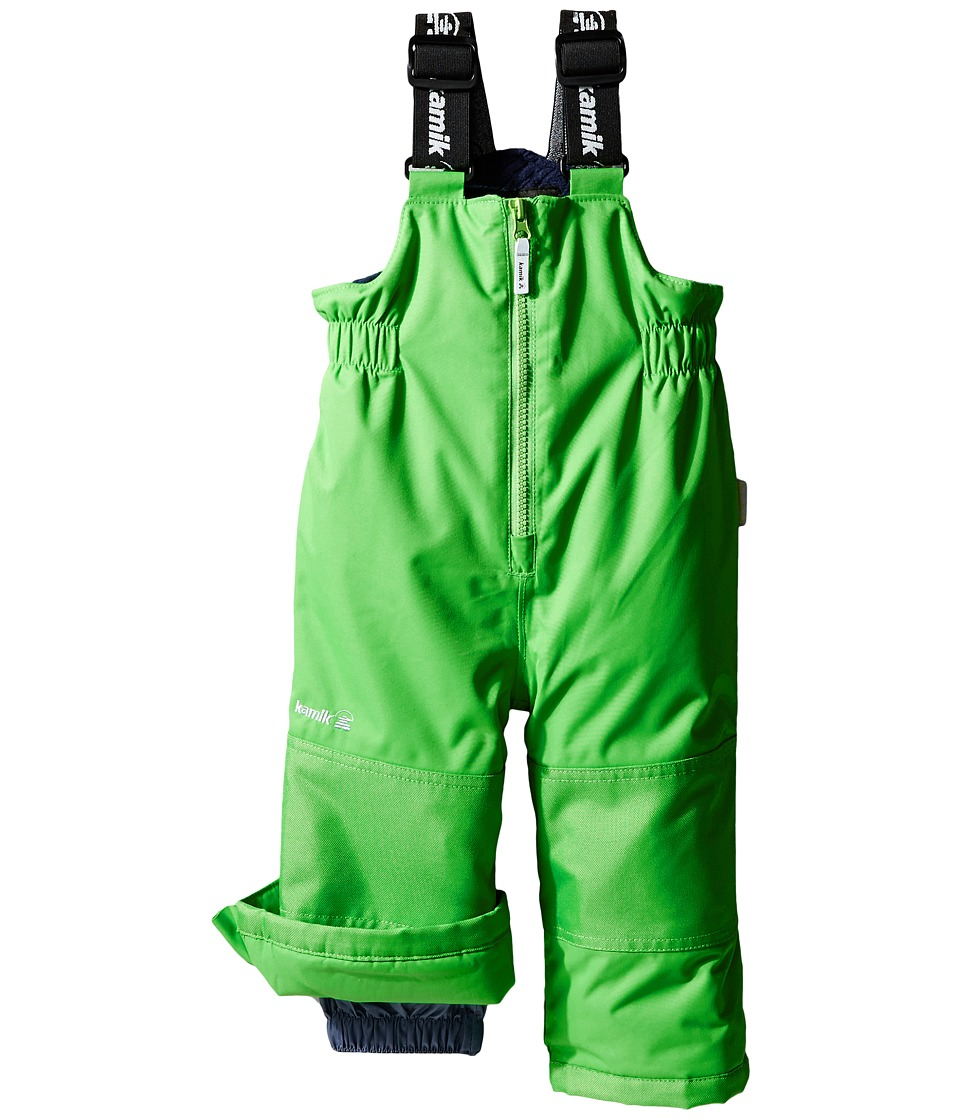 Kamik Kids - Winkie Solid Pants (Infant/Toddler/Little Kids/Big Kids) (Classic Green) Boy's Snow Bibs One Piece