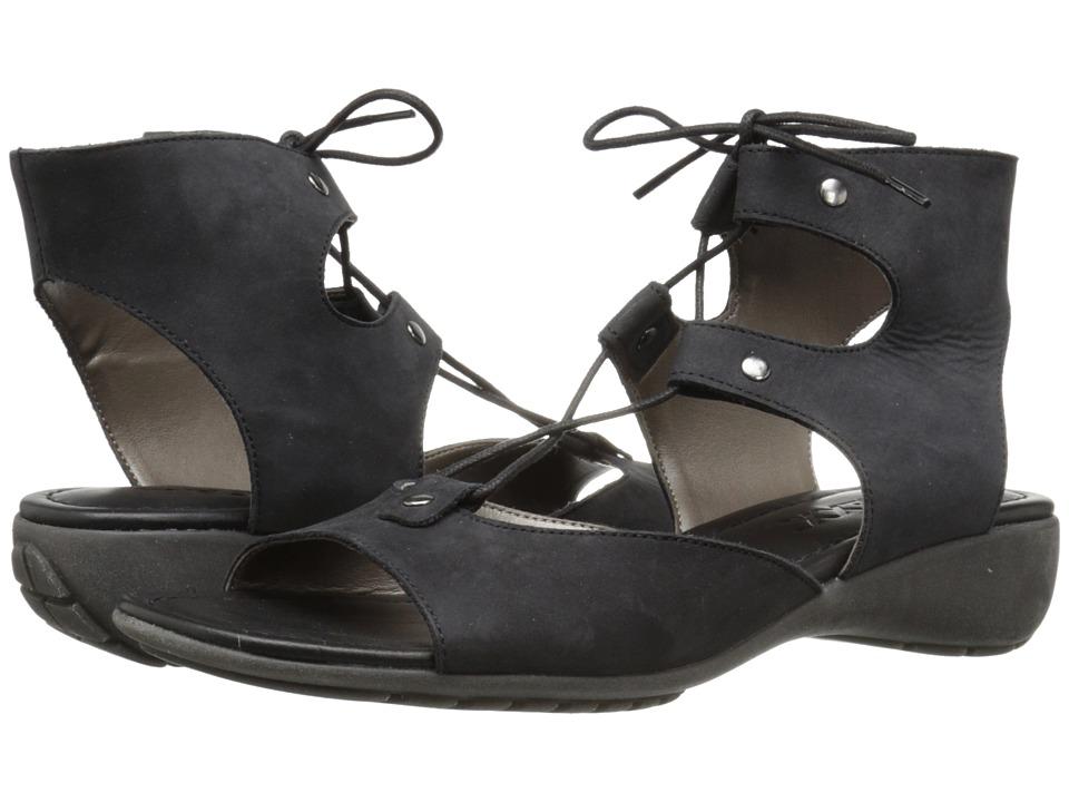 The FLEXX Band On The Run Black Nubuck Womens Shoes