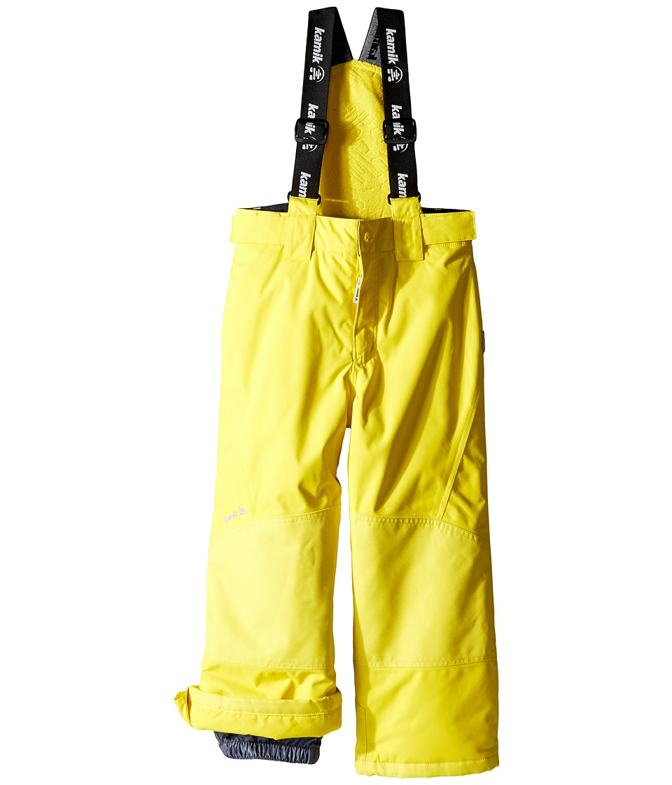 Kamik Kids - Harper Solid (Toddler/Little Kids) (Vibrant Yellow) Boy's Snow Bibs One Piece