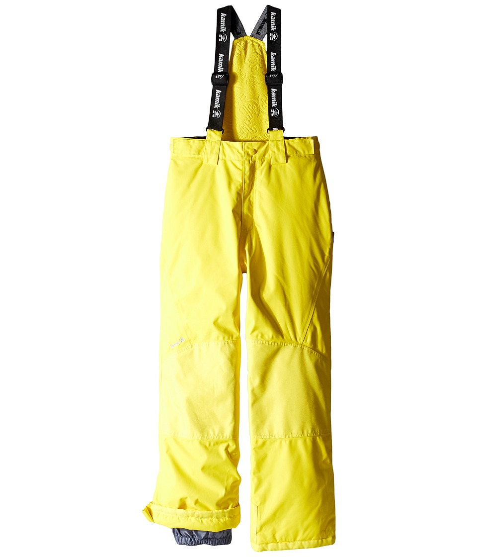 Kamik Kids - Harper Solid (Little Kids/Big Kids) (Vibrant Yellow) Boy's Snow Bibs One Piece