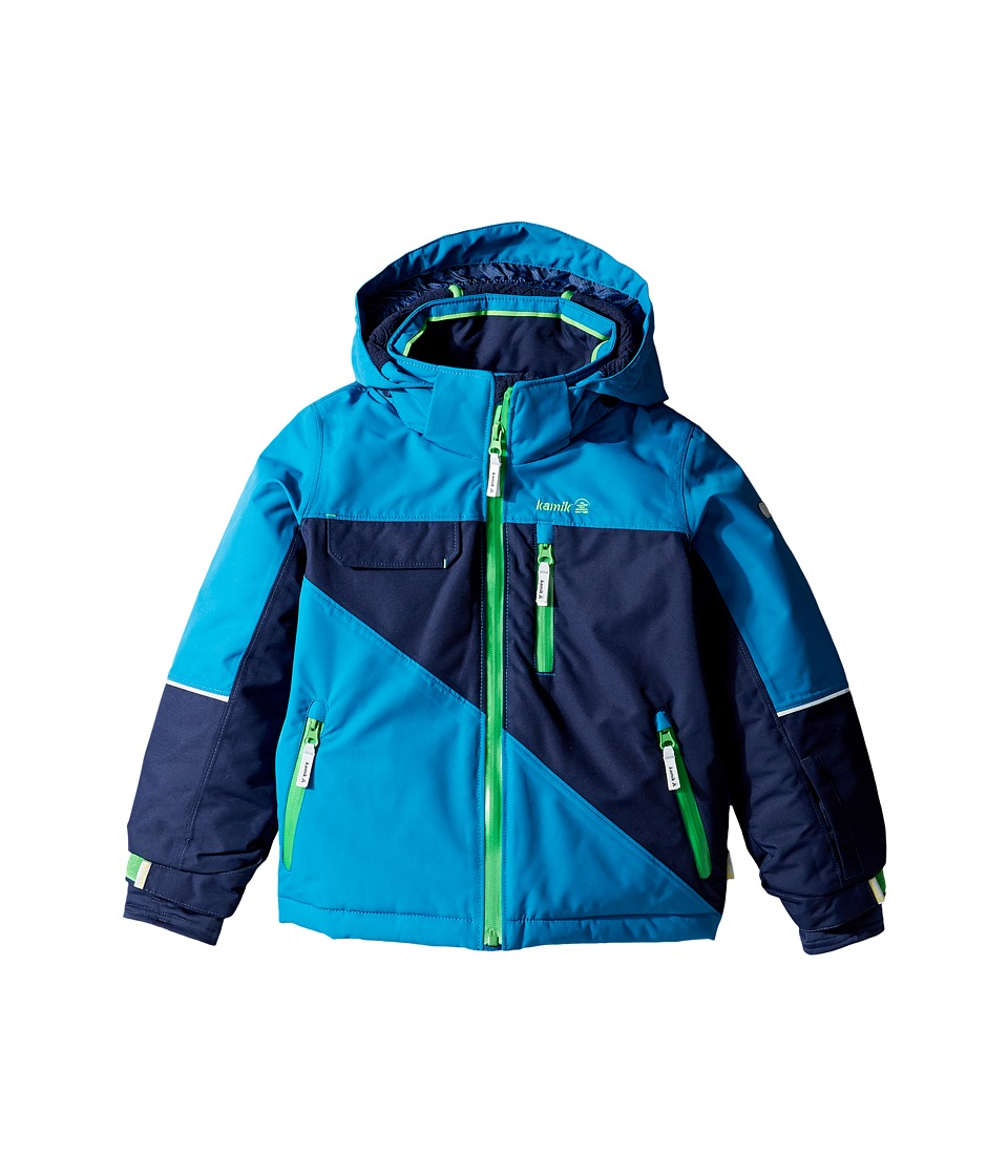 Kamik Kids - Rufus Colour Block Jacket (Infant/Toddler/Little Kids) (Mykonos) Boy's Coat