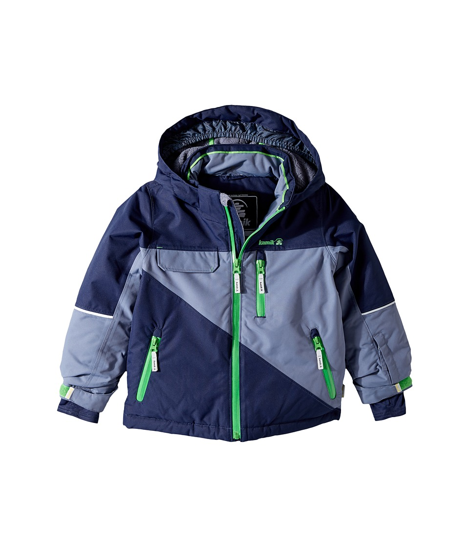 Kamik Kids - Rufus Colour Block Jacket (Infant/Toddler/Little Kids) (Peacoat) Boy's Coat