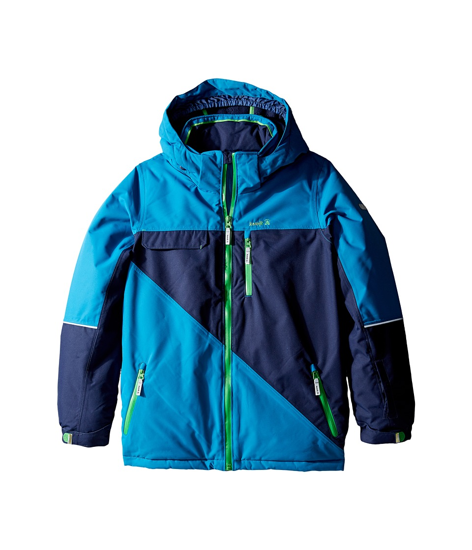 Kamik Kids - Rufus Colour Block Jacket (Little Kids/Big Kids) (Mykonos) Boy's Coat