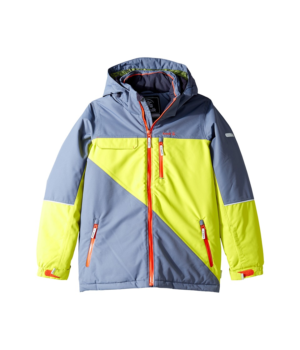 Kamik Kids - Rufus Colour Block Jacket (Little Kids/Big Kids) (Sulphur Spring) Boy's Coat
