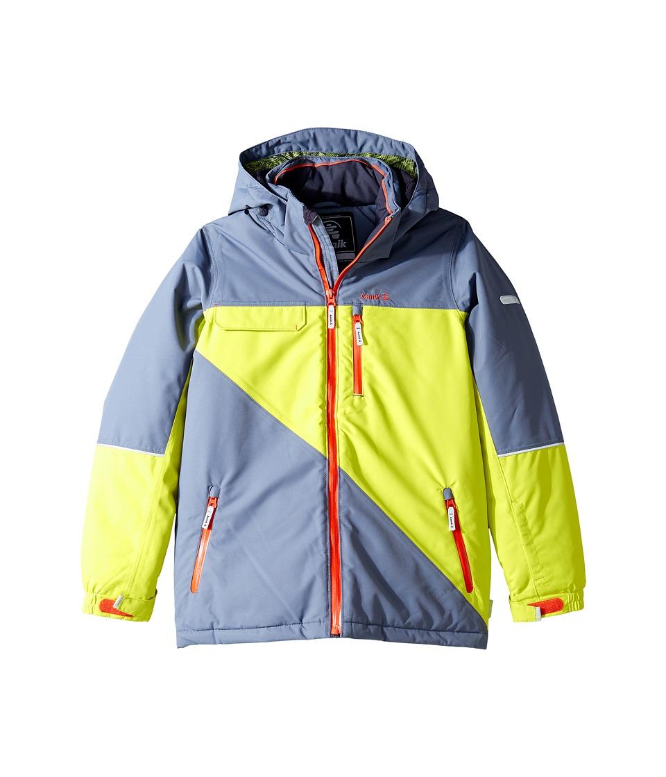 Kamik Kids - Rufus Colour Block Jacket (Little Kids/Big Kids) (Sulphur Spring) Boy's Coat