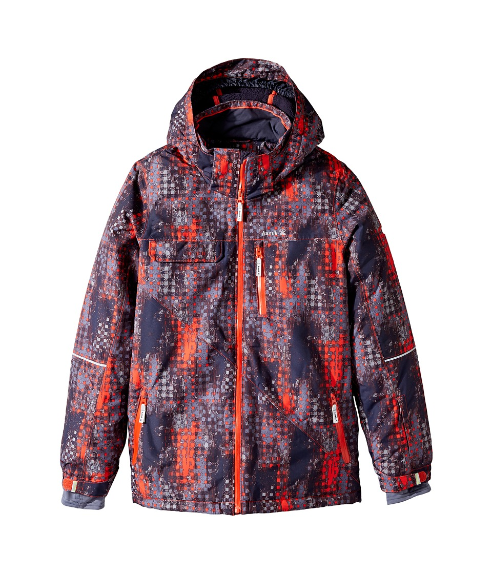 Kamik Kids - Rufus Madd Maze Jacket (Little Kids/Big Kids) (Grenadine) Boy's Coat
