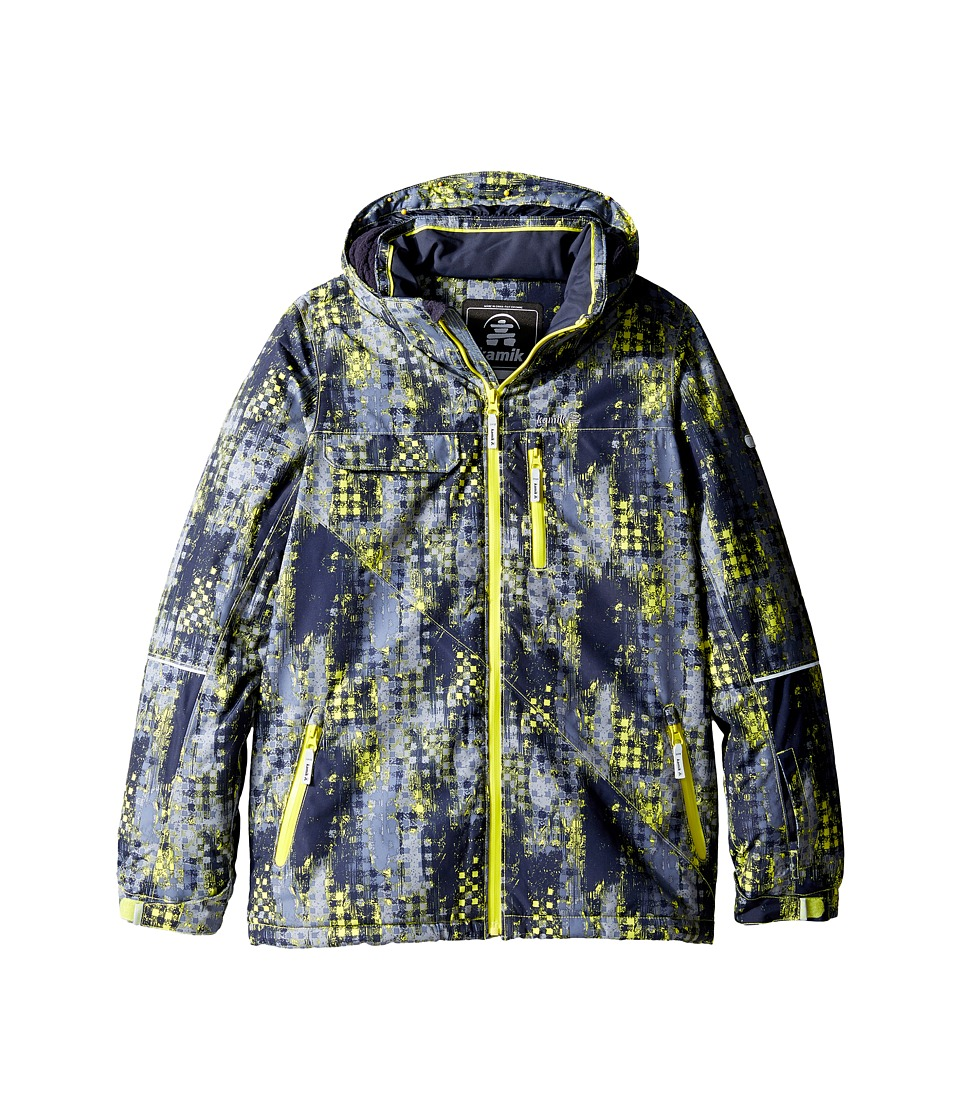 Kamik Kids - Rufus Madd Maze Jacket (Little Kids/Big Kids) (Sulphur Spring) Boy's Coat