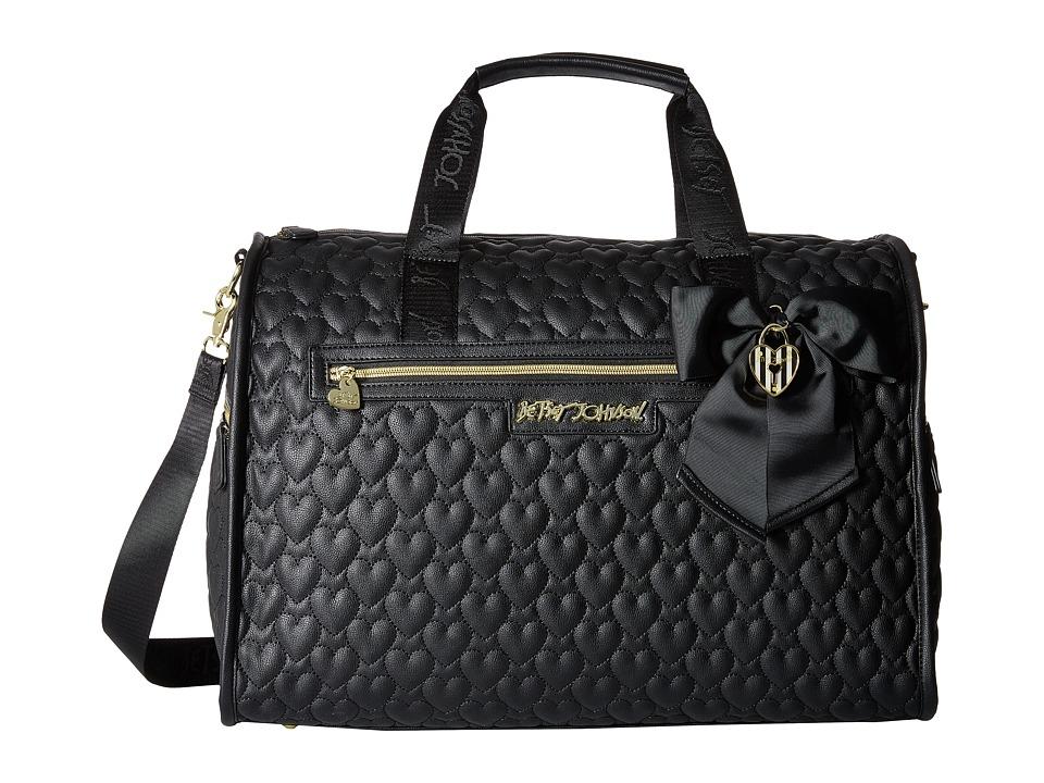 Betsey Johnson - Be Mine Weekender (Black) Weekender/Overnight Luggage