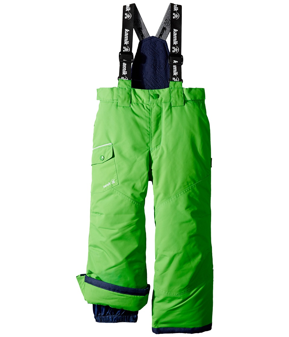 Kamik Kids - Otis Solid Pants (Toddler/Little Kids) (Classic Green) Boy's Snow Bibs One Piece