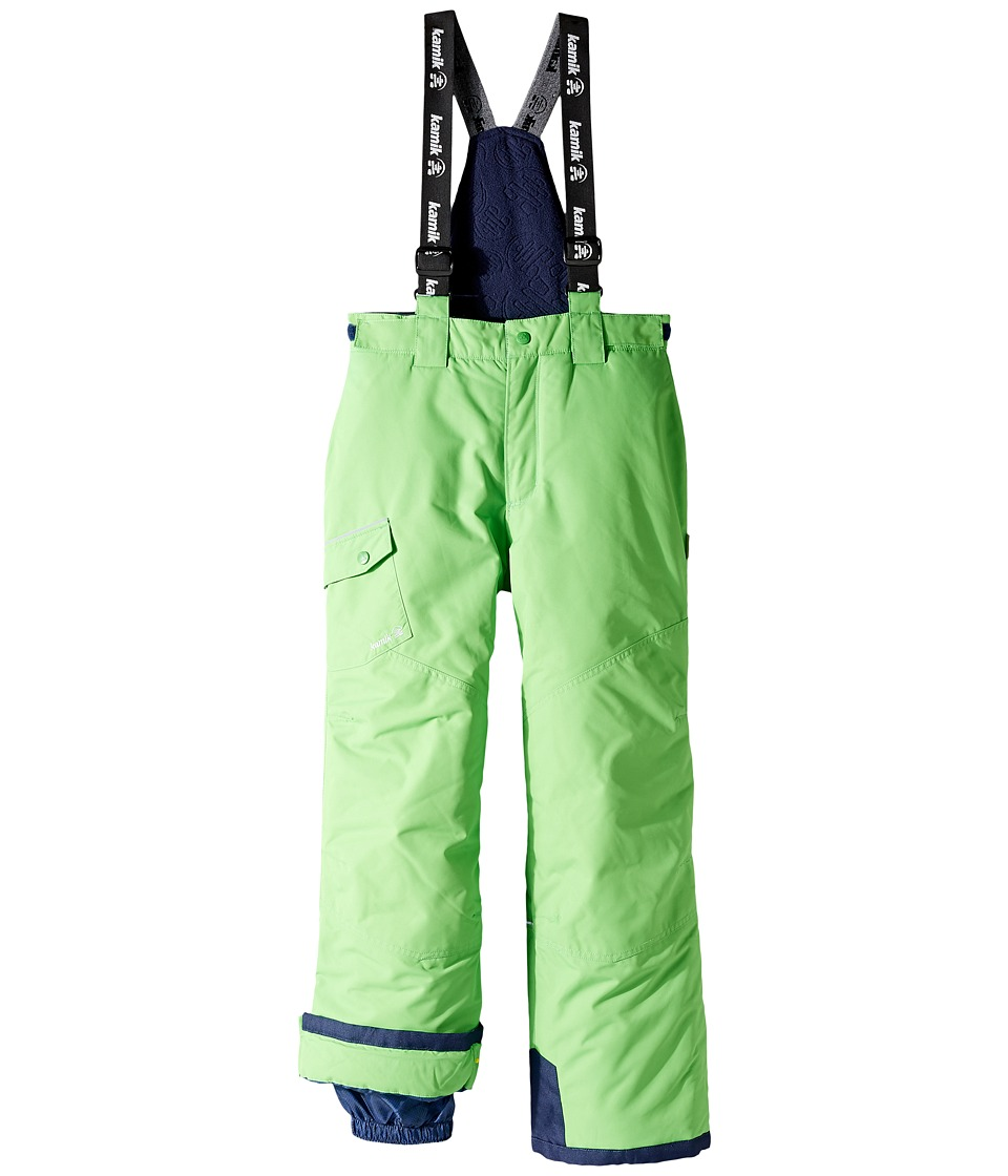 Kamik Kids - Otis Solid Pants (Little Kids/Big Kids) (Classic Green) Boy's Snow Bibs One Piece