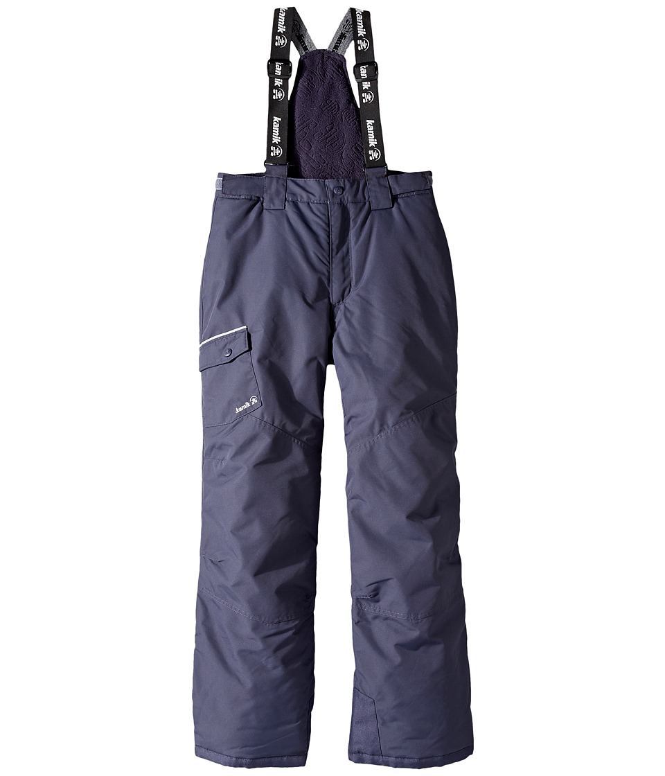 Kamik Kids - Otis Solid Pants (Little Kids/Big Kids) (Graphite) Boy's Snow Bibs One Piece