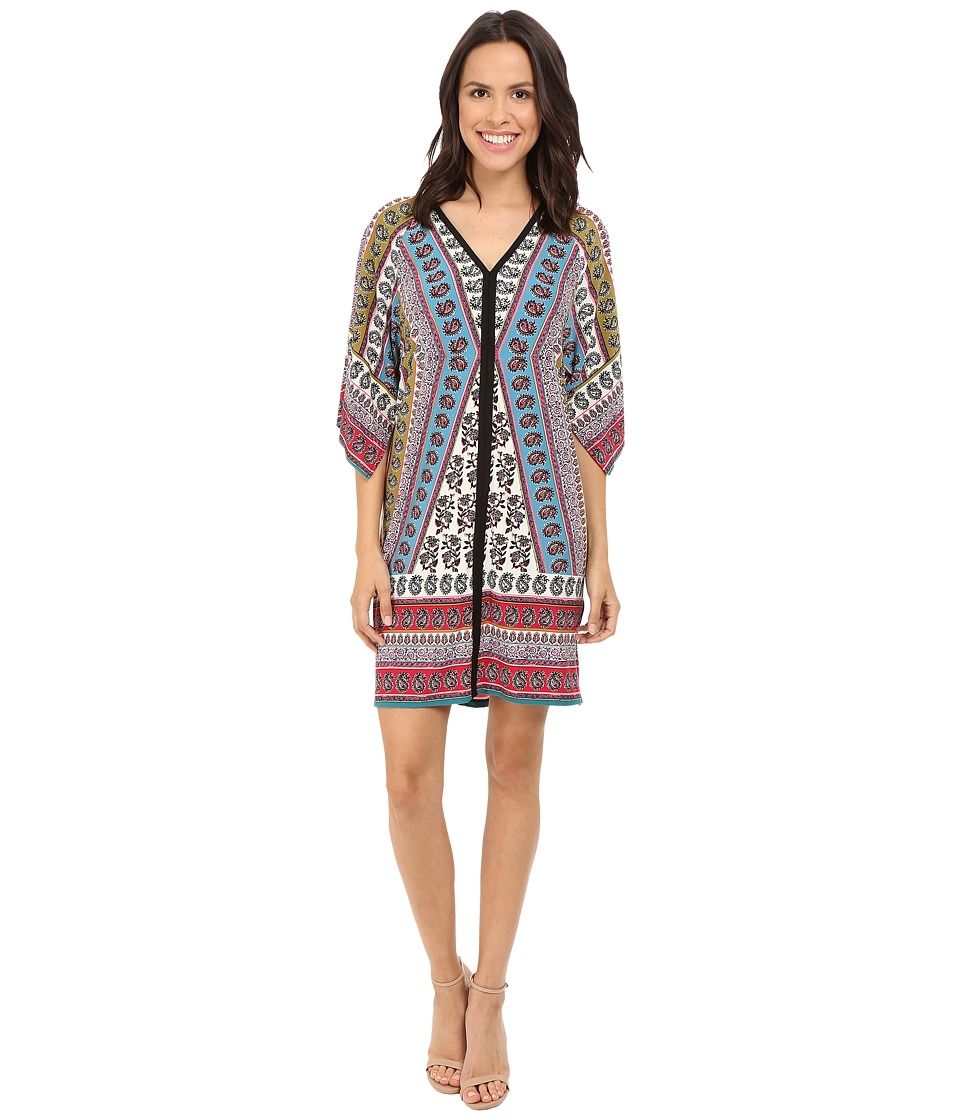 London Times - Indian Patchwork Shift Dress (Multi) Women's Dress