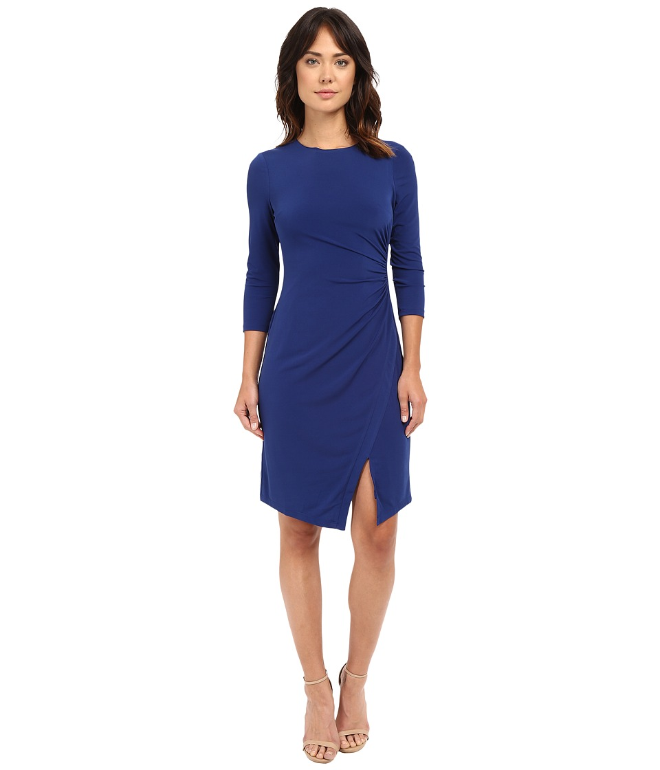 London Times Jersey Sheath Dress (Midnight) Women