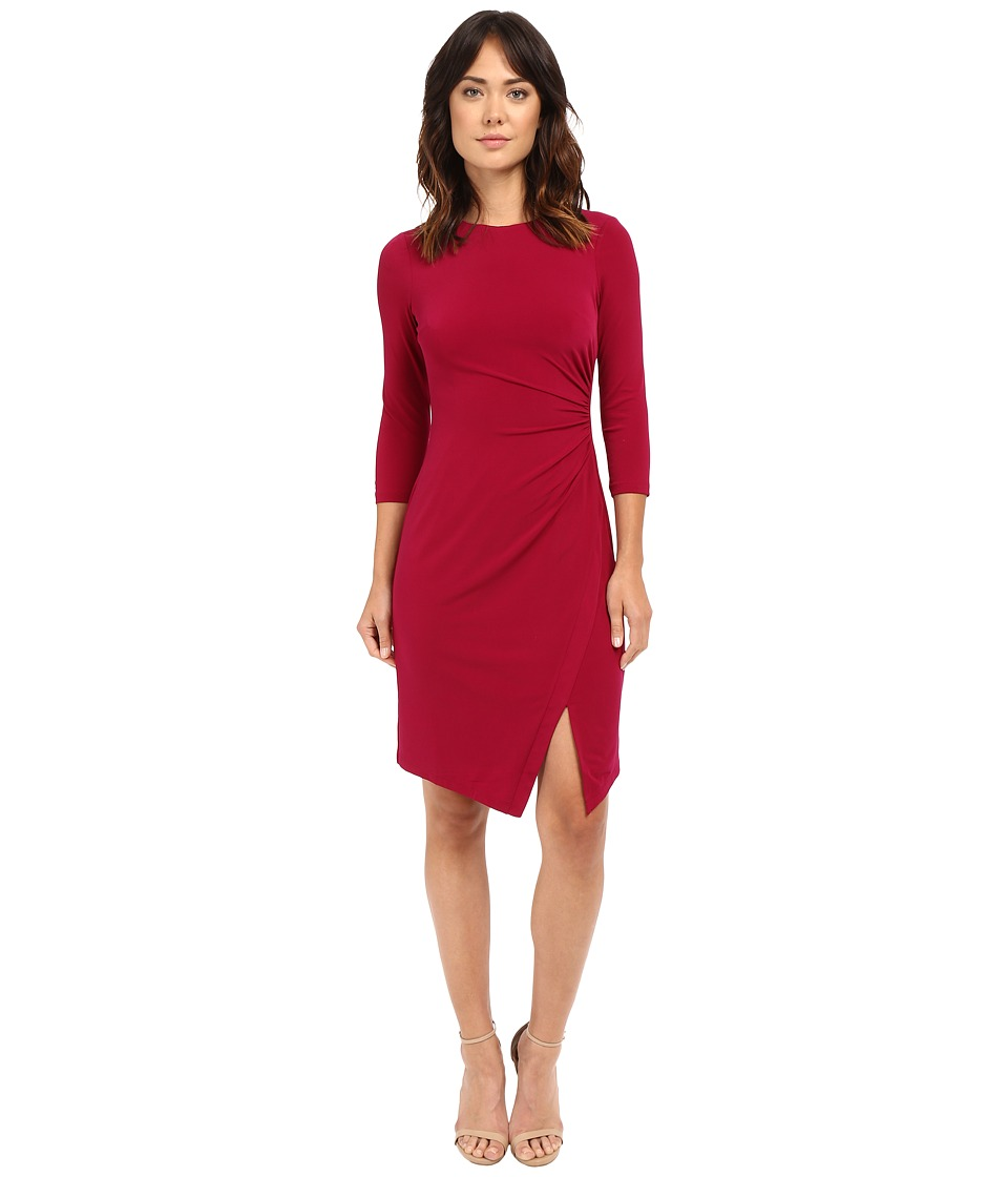 London Times - Jersey Sheath Dress (Pink Plum) Women's Dress