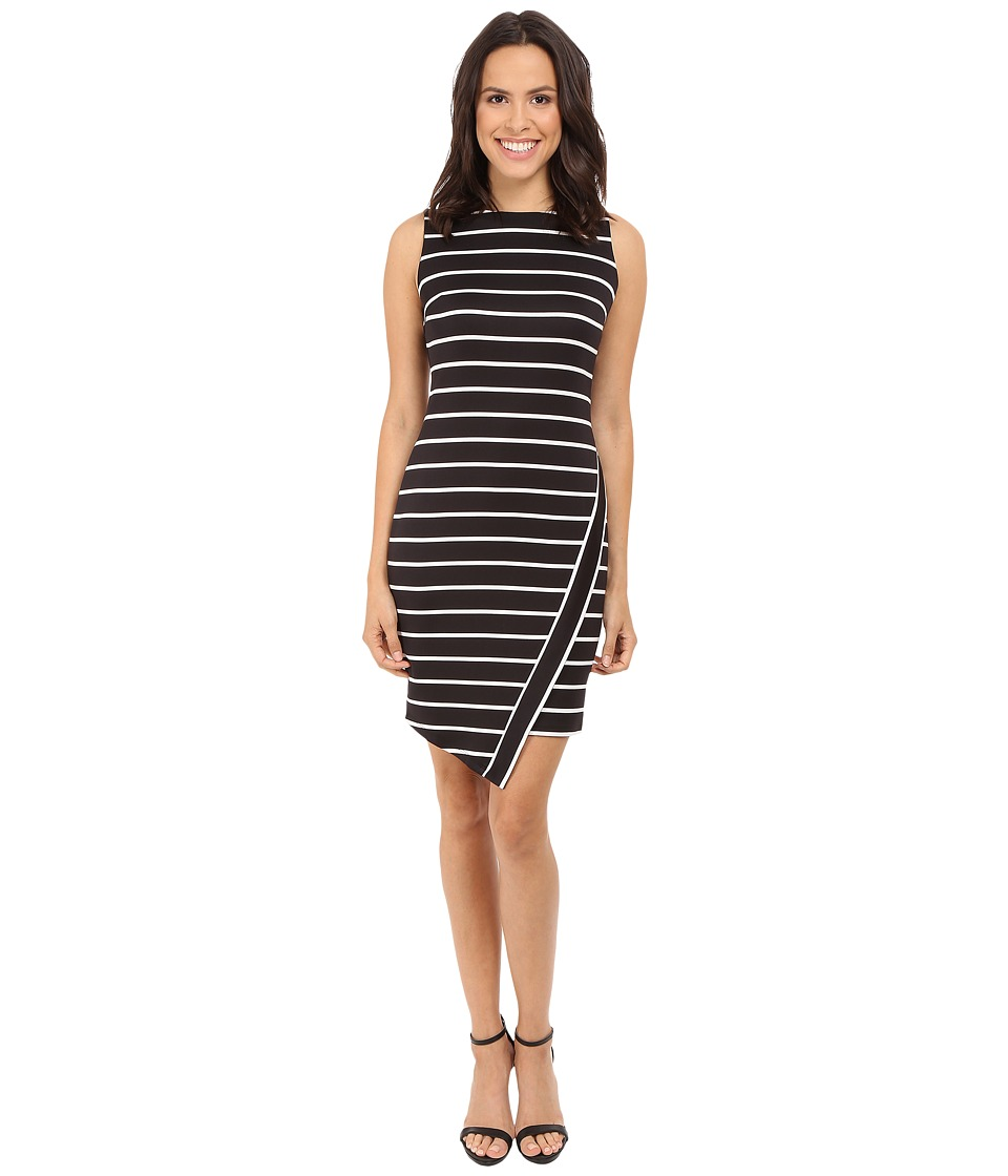 London Times - Deauville Stripe Sheath Dress (Black/White) Women