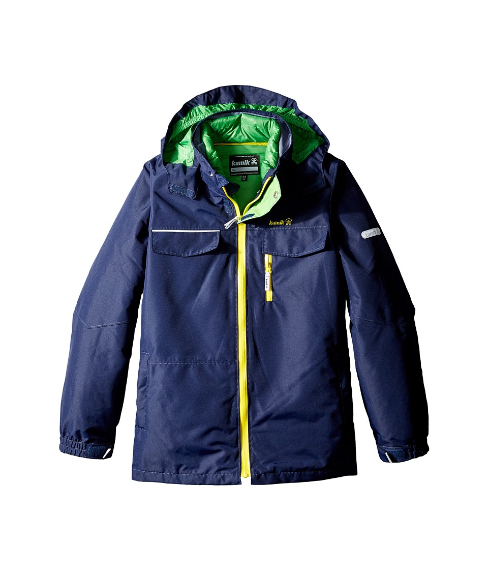 Kamik Kids - Sawyer 3-in-1 Down Jacket (Little Kids/Big Kids) (Peacoat) Boy's Coat