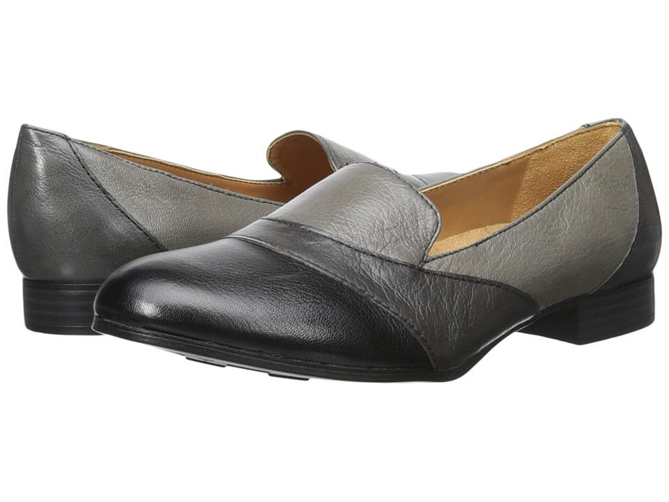 Naturalizer - Coretta (Grey/Black Leather) Women's Shoes