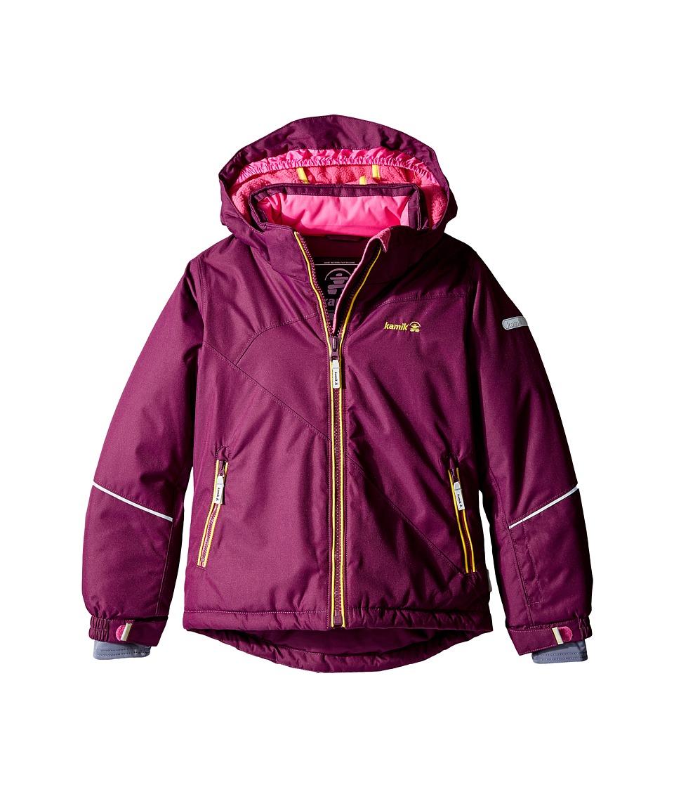 Kamik Kids - Aria Solid Jacket (Infant/Toddler/Little Kids) (Dark Purple) Girl's Coat