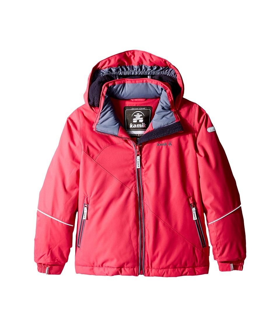Kamik Kids - Aria Solid Jacket (Infant/Toddler/Little Kids) (Cerise) Girl's Coat