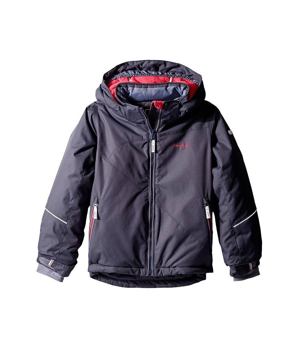 Kamik Kids - Aria Solid Jacket (Infant/Toddler/Little Kids) (Graphite) Girl's Coat