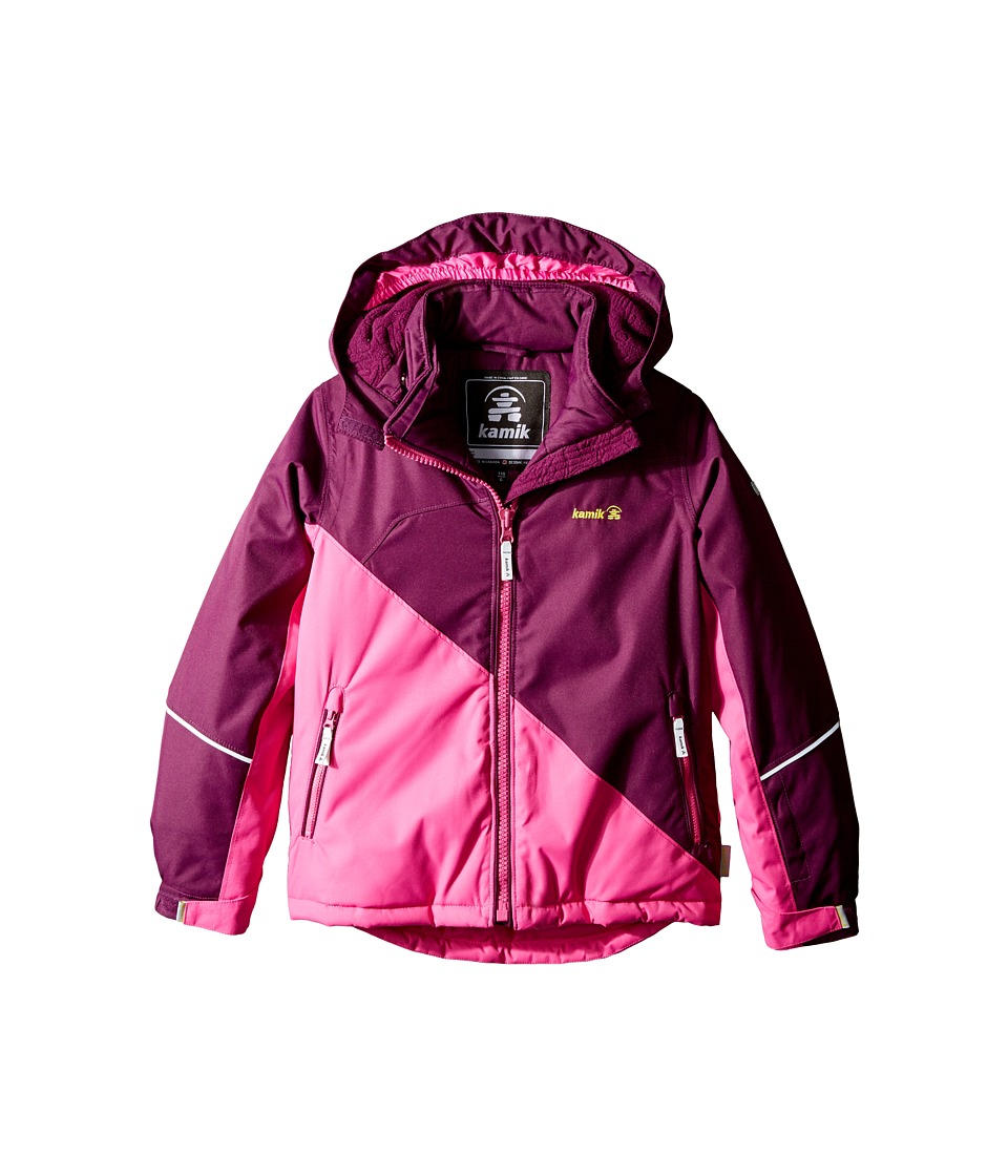 Kamik Kids - Aria Colour Block Jacket (Infant/Toddler/Little Kids) (Dark Purple) Girl's Coat