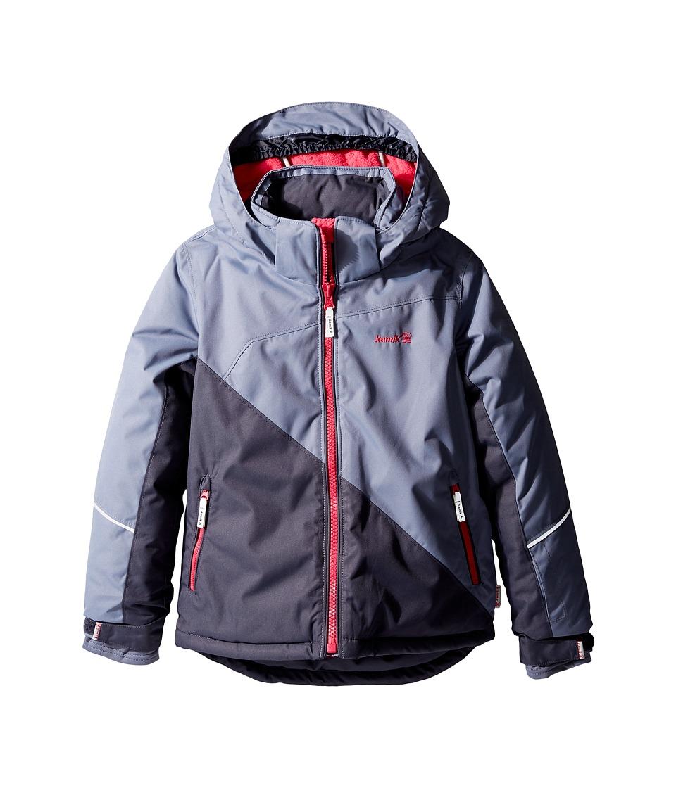 Kamik Kids - Aria Colour Block Jacket (Infant/Toddler/Little Kids) (Graphite) Girl's Coat