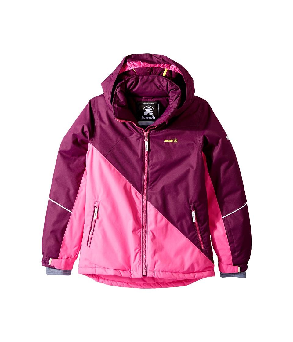 Kamik Kids - Aria Colour Block Jacket (Little Kids/Big Kids) (Dark Purple) Girl's Coat