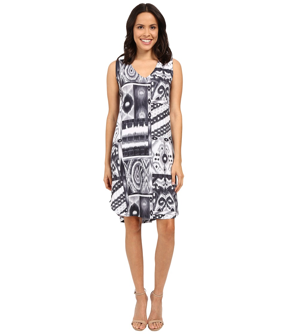 Nally & Millie - Black/Grey V-Neck Dress (Multi) Women's Dress