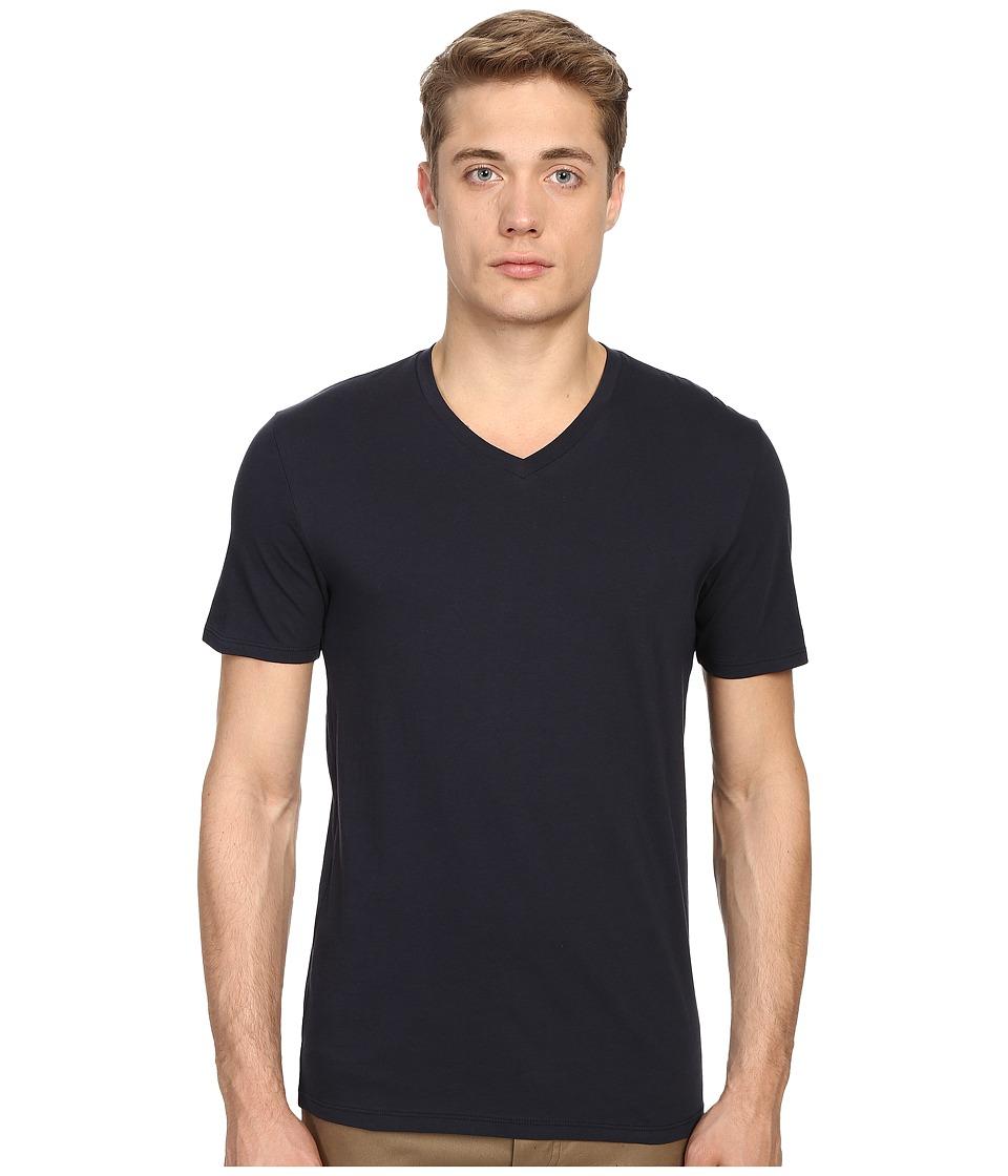 Vince - Short Sleeve Pima Cotton V-Neck Shirt (Coastal) Men's Short Sleeve Pullover