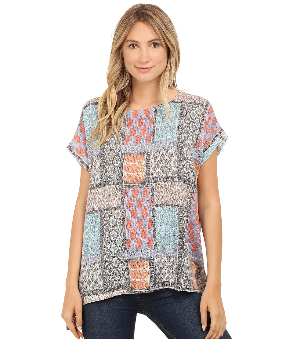 Nally & Millie - Tile Print Sweater Tunic (Multi) Women's Sweater