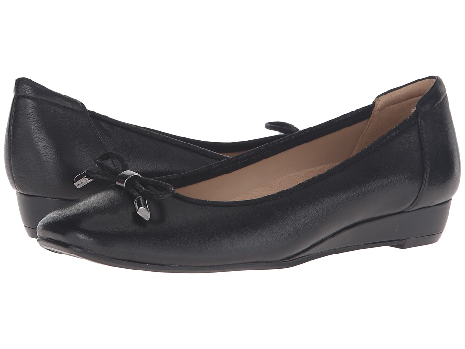 Naturalizer - Dove (Black Leather) Women's Wedge Shoes