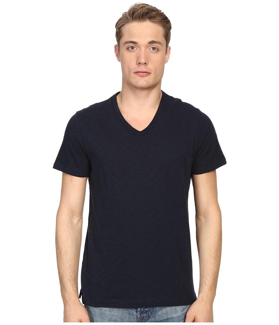 Vince - Short Sleeve Slub V-Neck Shirt (Coastal) Men's Short Sleeve Pullover