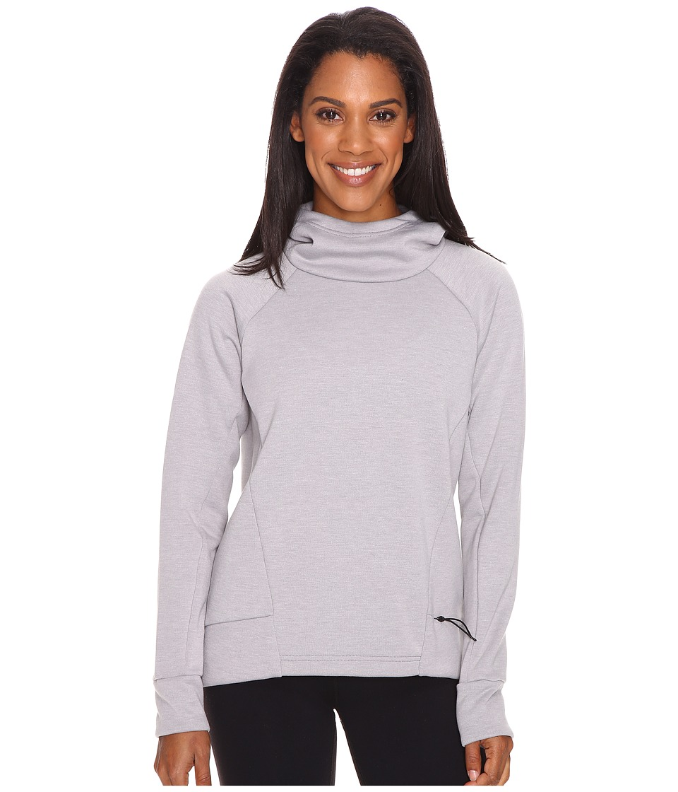 Lucy - Lucy Lux Fleece Pullover (Silver Filigree Heather) Women's Long Sleeve Pullover