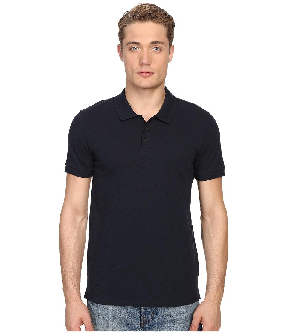 Vince - Short Sleeve Slub Polo Shirt (Coastal) Men's Short Sleeve Knit