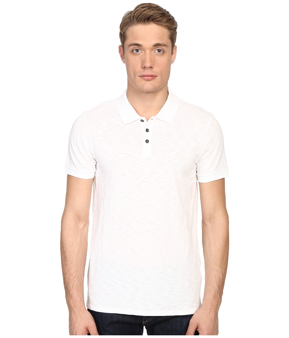 Vince - Short Sleeve Slub Polo Shirt (Optic White) Men's Short Sleeve Knit