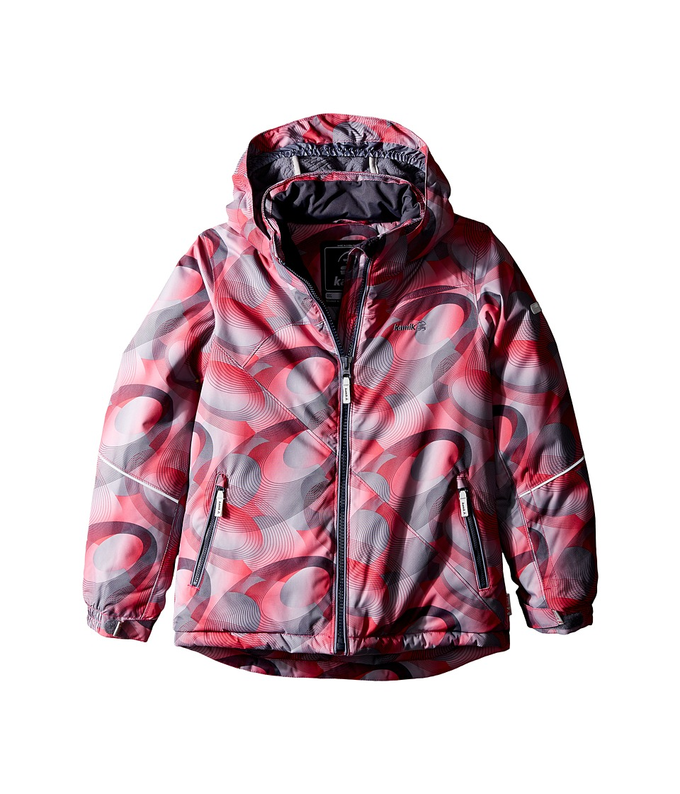 Kamik Kids - Aria Spiral Blitz Jacket (Little Kids/Big Kids) (Cerise) Girl's Coat